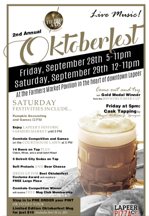 2nd Annual Oktoberfest at Tilted Axis Brewery