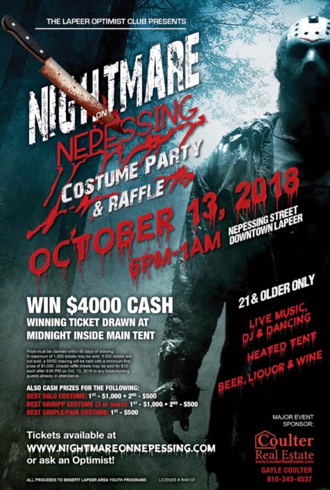 Nightmare on Nepessing - Costume Party and Raffle